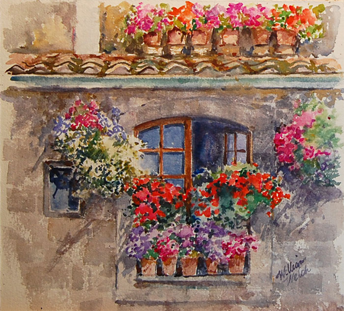 Red Window Boxes