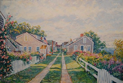 Cottage Lane in Nantucket