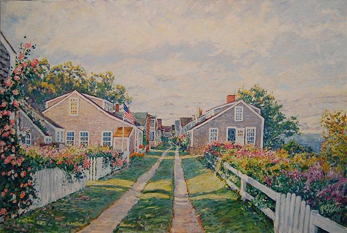 Cottage Lane in Nantucket