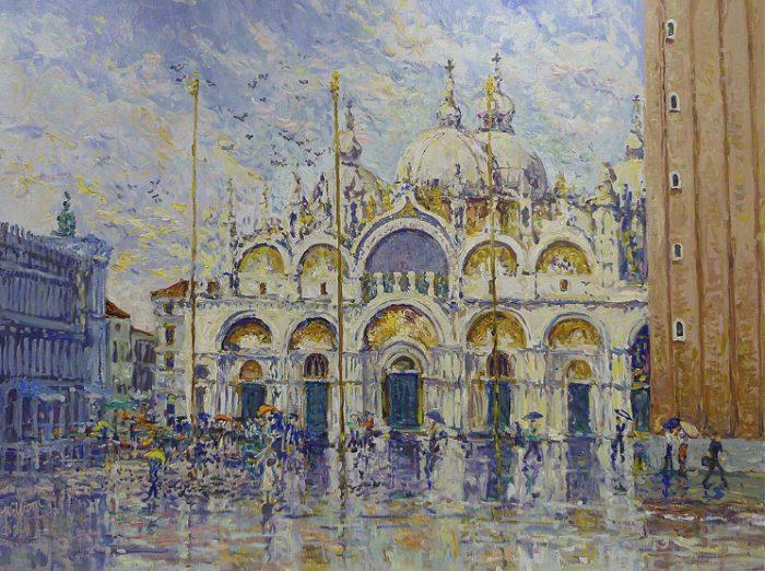 Piazza San Marco Rain Effect