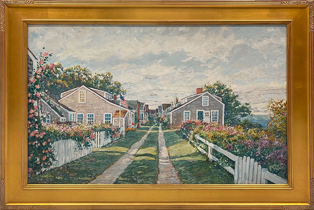 Front Street on Bloom (2018, Giclée, 42 x 30 1/2)