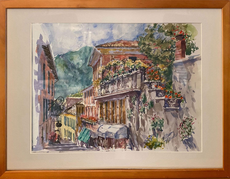 Bellagio, en Plein Soleil (Watercolor, 13 x 17)