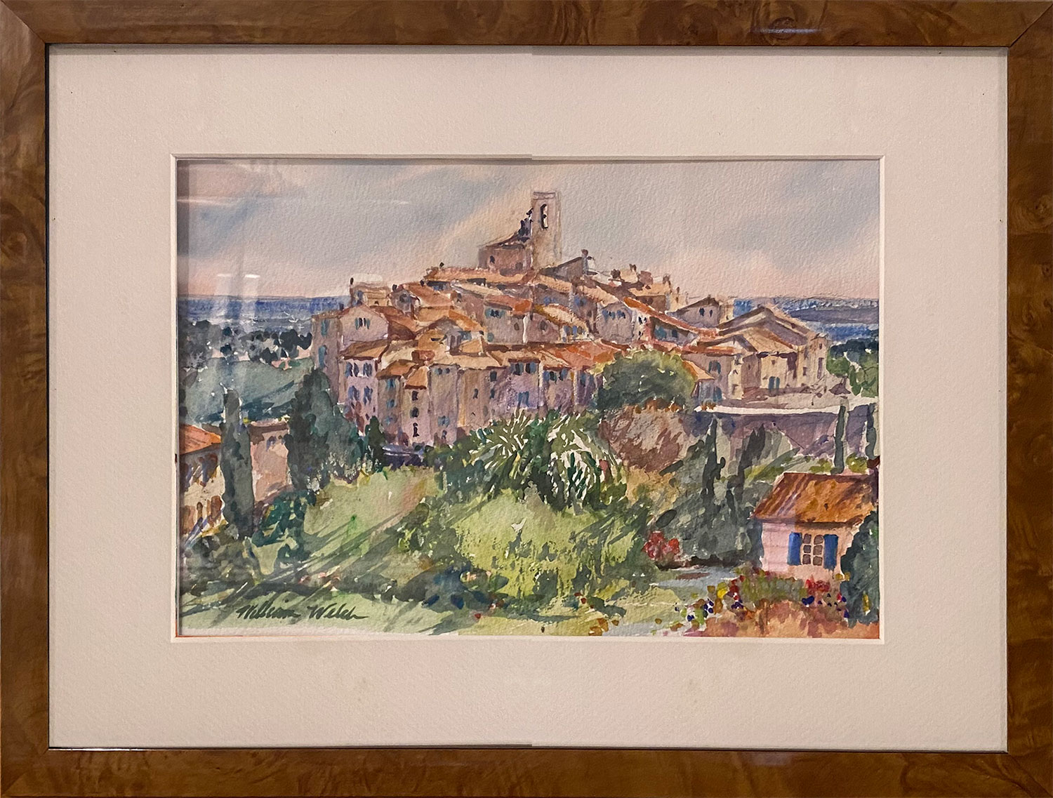 Cluster Dwellings With A View (Watercolor, 17 x 13)