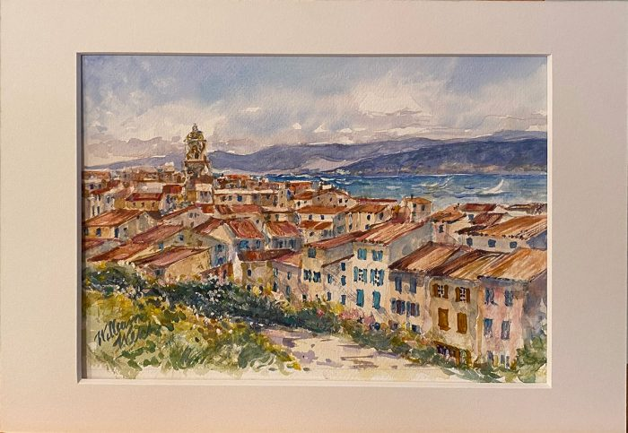 Lake Como (Watercolor, 16 x 12)