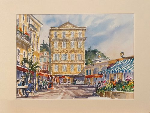 Matisse Studio Flower Market Old Nice (Watercolor, 14 x 18)