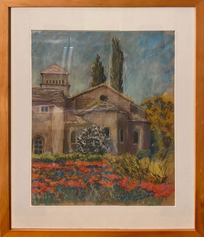 St. Paul de Mausole St. Remy Provence (Pastel, 12 1/2 x 16 1/2)
