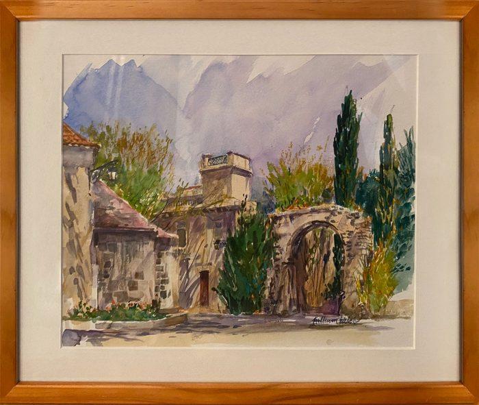 Un Jour en Avril a' Arles (Watercolor, 12 1/2 x 16 1/2)