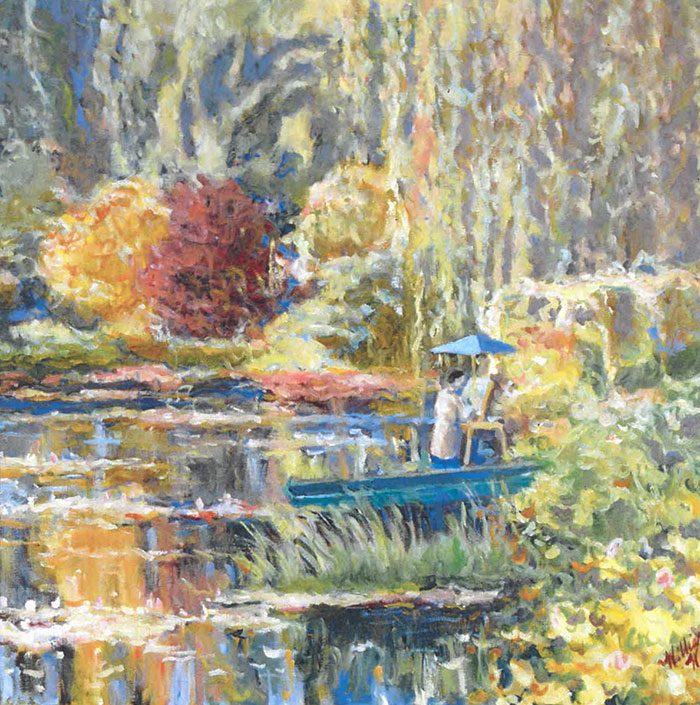 Painter in the Pond